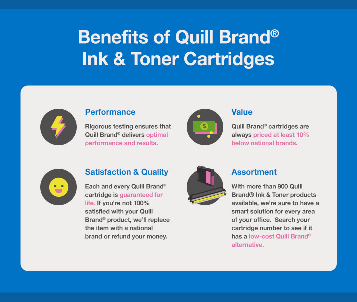 Benefits of Quill Brand Ink & Toner