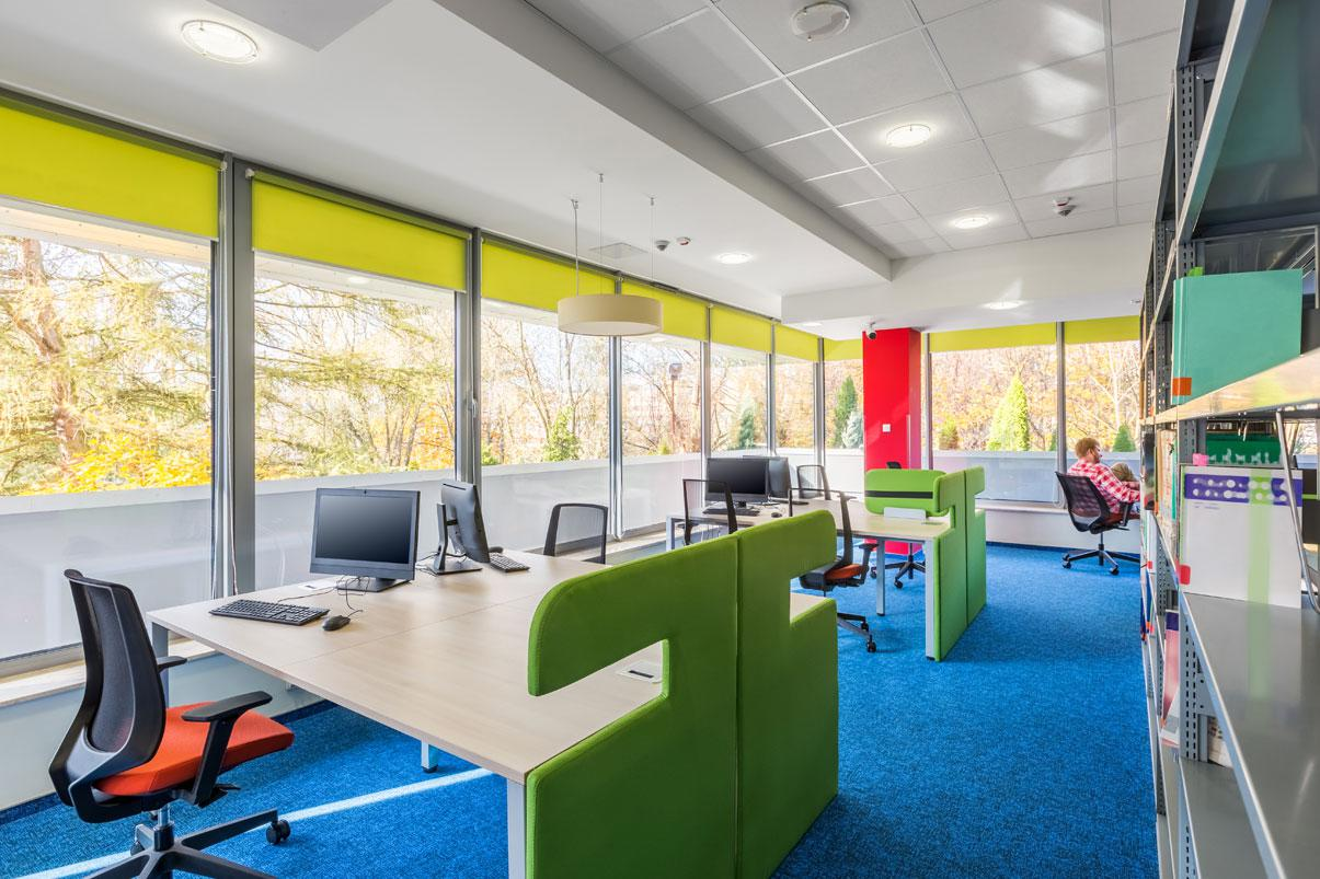 Colorful office space