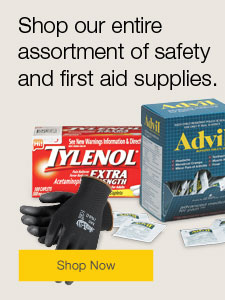 Shop our entire assortment of safety and first aid supplies