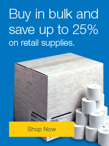 Buy in bulk and save up to 25% on retail supplies.