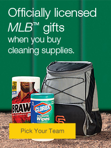 FREE officially-licensed MLB gifts when you buy cleaning supplies.