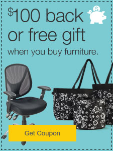 $100 back in QuillCASH or FREE gift when you buy furniture.