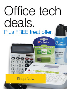 Office tech deals, plus FREE treat offer.