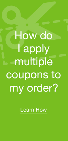 Plus! Now apply multiple coupons to your order