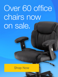 Over 60 office chairs now on sale.