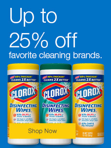 Up to 25% off your favorite cleaning brands.