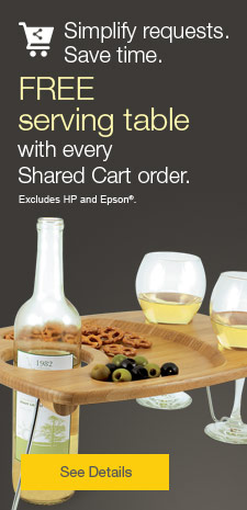 Free serving table with every Shared Cart order.