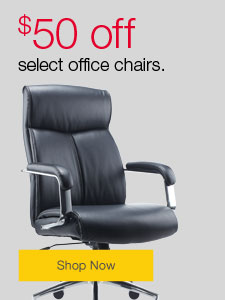 $50 off select office chairs.