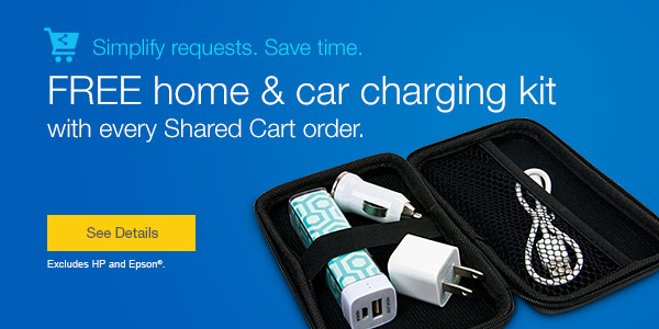 FREE home & car charging kit with every Shared Cart order.