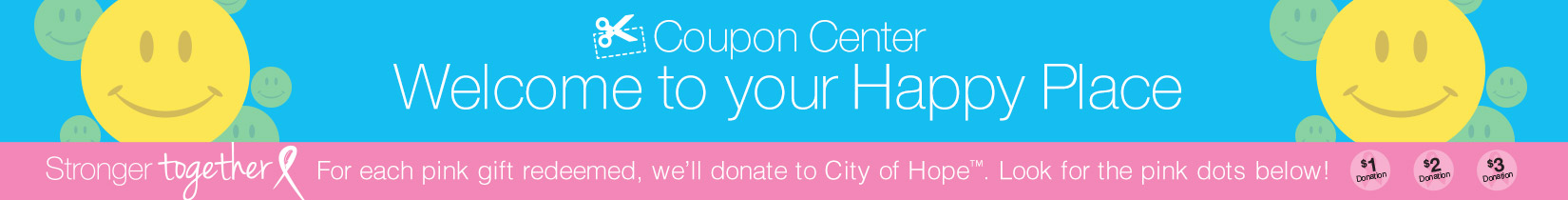 coupon center banner